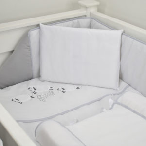 5 PIECE COT LINEN SET - SHEEP GREY