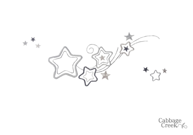 3 PIECE COT LINEN SET - GREY STARS