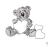 3 PIECE COT LINEN SET – GREY TEDDY & BLUE HEARTS 4