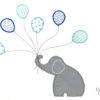5 PIECE COT LINEN SET – ELEPHANT & BLUE BALLOONS 4