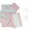 5 PIECE COT LINEN SET – BUTTERFLY PINK 3