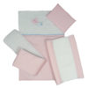 5 PIECE COT LINEN SET – BUTTERFLY PINK 2